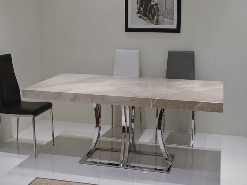 Stone International Aurora Rectangular Marble Dining Table