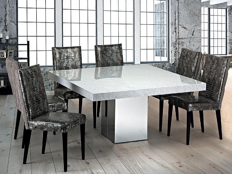 Stone International Manhattan Square Marble Dining Table